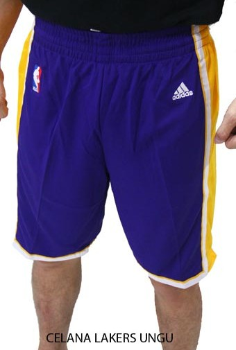 Celana NBA Basket Lakers Ungu