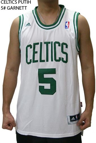 the best attitude 11662 8d624 Jersey NBA Basket Celtics Putih 5# Garnett