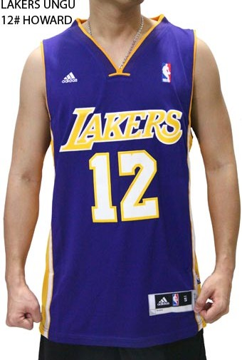 Jersey NBA Basket Lakers Ungu 12# Howard