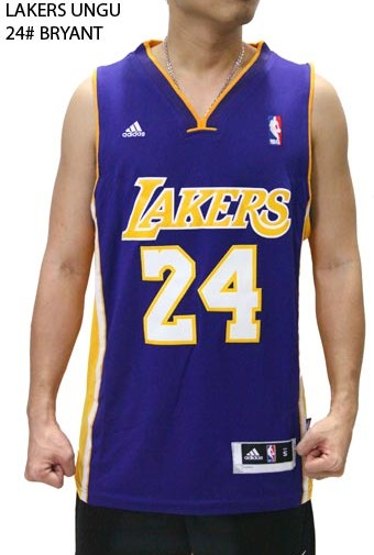 Jersey NBA Basket Lakers Ungu 24# Bryant