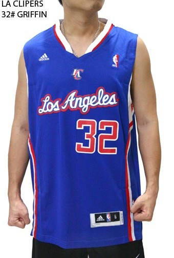 Jersey NBA Basket LA Clippers Biru 32# Griffin
