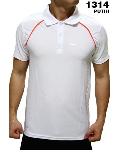 Polo Shirt Nike 1314 White
