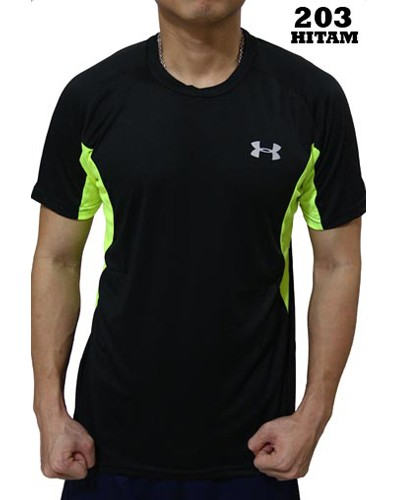 Kaos Olahraga Under Armour 203 Hitam  f02e06c0b0