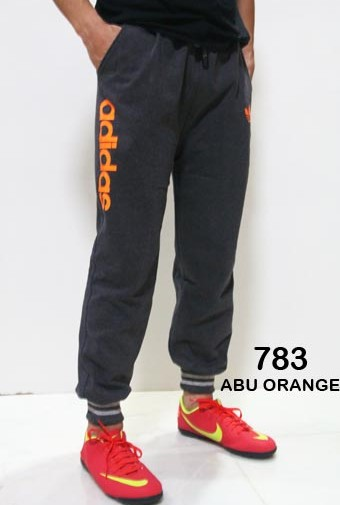 Jogger Pants Panjang Adidas 783 Abu Lis Orange