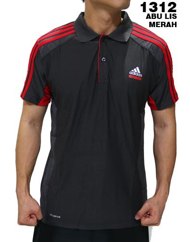 Polo Shirt Adidas 1312 Abu List Merah