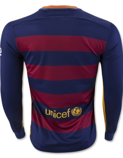 Jersey Barcelona Home LS Back 2015-2016