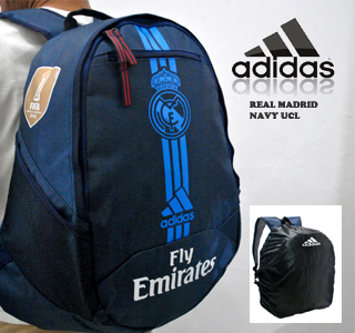 TAS RANSEL BOLA REAL MADRID NAVY UCL + RAINCOVER