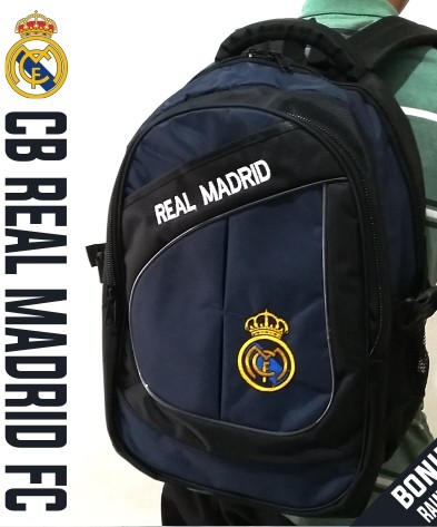 TAS RANSEL BOLA CB REAL MADRID NAVY + RAINCOVER