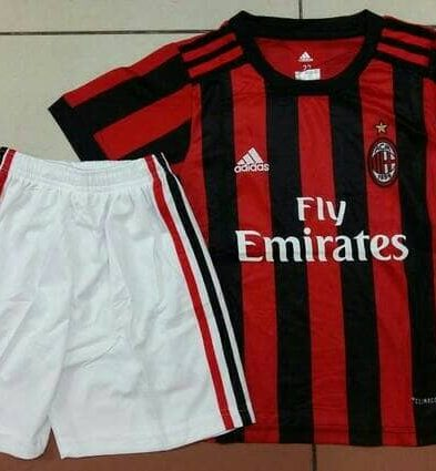 Jersey Kids AC Milan Home 2017-2018 Terbaru | Replika Top Quality