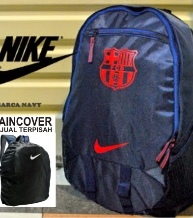 TAS RANSEL BOLA MURAH BARCELONA NAVY RED+ RAINCOVER