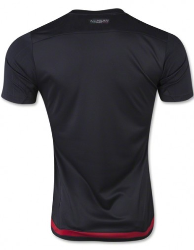 Jersey AC Milan Training black back 2015-2016