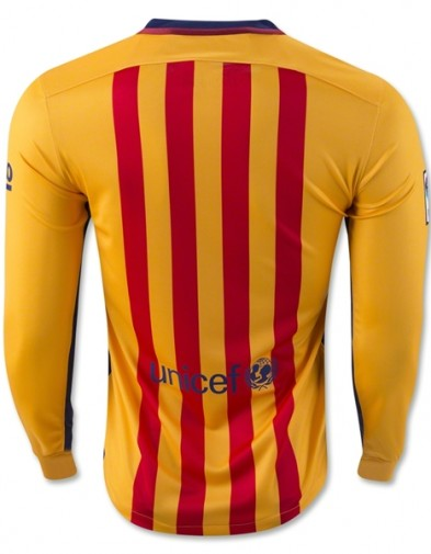 Jersey Barcelona Away LS back 2015-2016