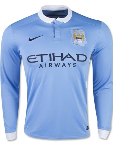 Jersey Manchester City home LS 2015-2016