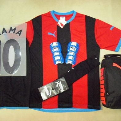 Setelan Kaos Futsal / Bola Puma Newcastle Red Black