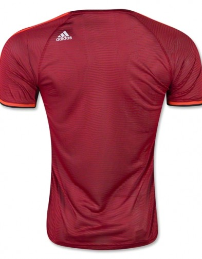 Jersey manchester  United Training UCL Red 2015-2016 Back