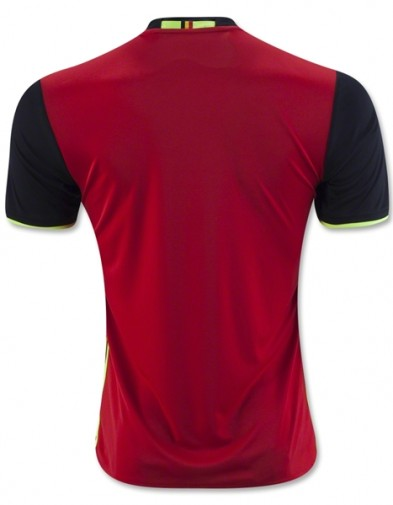 Jersey Belgia Home Back Euro 2016