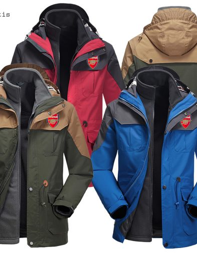 Jaket Taktis Waterproof Arsenal Merah 2016-2017
