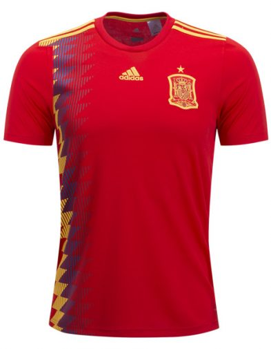 Jersey Spanyol Home 2018 Piala Dunia | Replika Top Quality