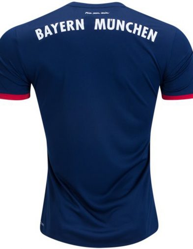 Adidas Bayern Munich Away Jersey Official 17-18 Dark Blue Soccer Jersey