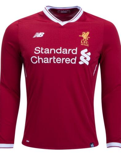 Jersey Liverpool Home Lengan Panjang 2017-2018 Terbaru | Top Quality Replika