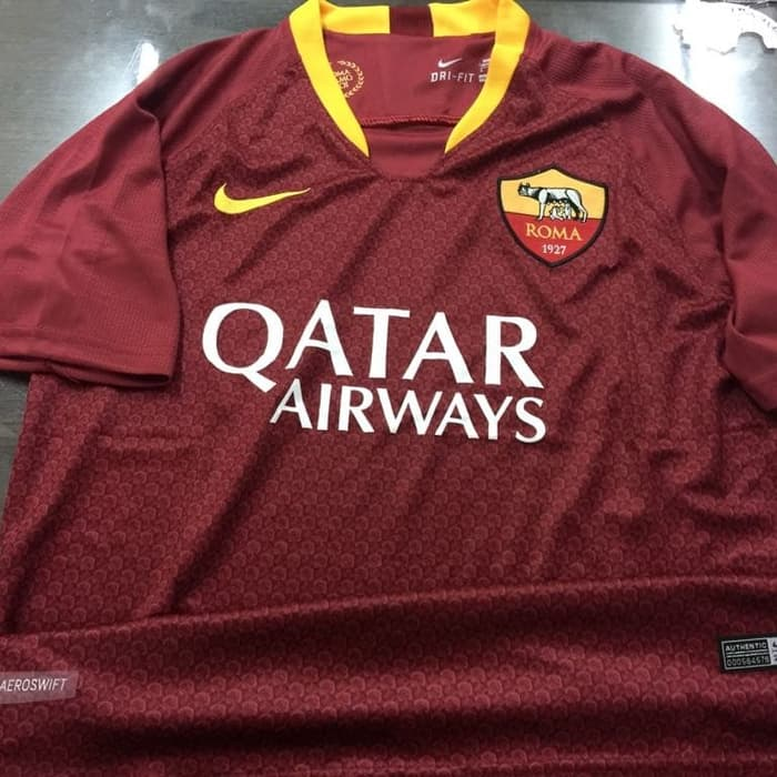 Roma-Home Jersey AS Roma 2018-2019 Home Terbaru | Replika Top Quality