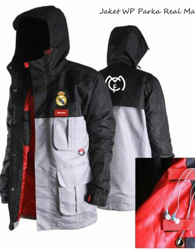 Jaket Waterproof Parka Real Madrid 2016-2017