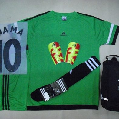 Setelan Kaos Futsal / Bola Adidas ACE Green Orange
