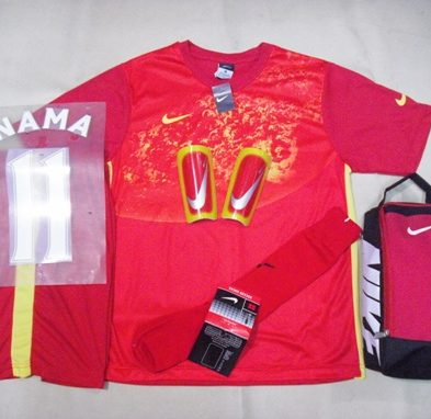 Setelan Kaos Futsal / Bola Nike Galaxy Red Yellow