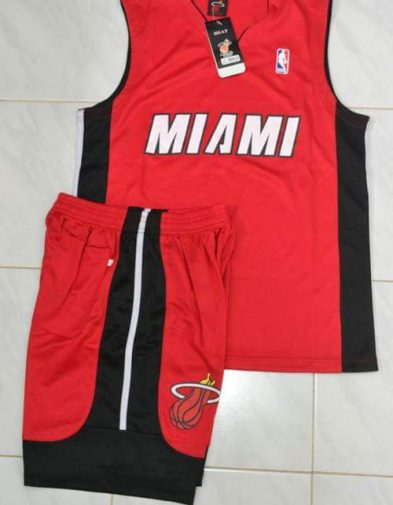 Setelan Basket Miami Heat