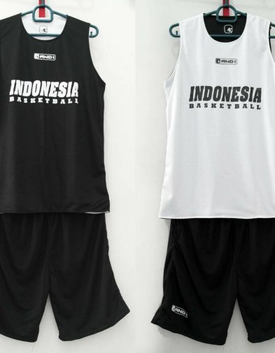 Jersey Basket Latihan Indonesia Basketball Hitam Putih
