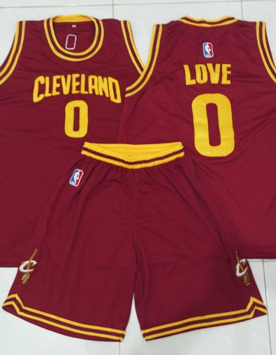 Jersey Basket Love Cleveland Cavaliers Maroon