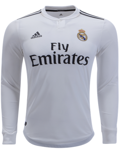 Jersey Real Madrid Home Lengan Panjang 2018-2019 | Replika Top Quality